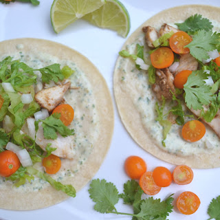 Mahi Mahi Tacos with Cilantro Lime Sauce