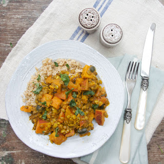 Sweet Potato, Lentil and Coconut Curry.