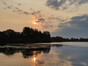 Photo: 26 Jun 13 Priorslee Lake: Early cloud cleared to leave a rather angry-looking sky. (Ed Wilson)