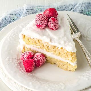 Coconut Flour Classic Vanilla Cake from Indulge Cookbook.