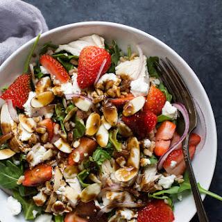 Farro Arugula Strawberry Chicken Salad Recipe