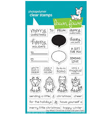 Lawn Fawn Clear Stamps 4X6 - Say What? Christmas Critters