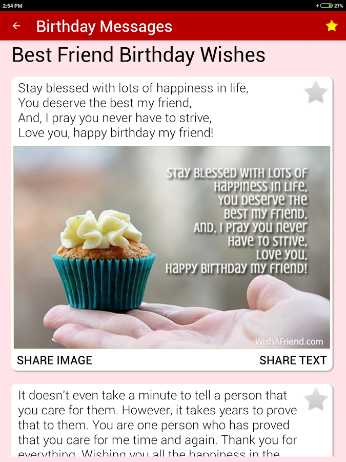 Birthday Cards Messages Wish Friends Family Android Apps – Friend Birthday Card Messages