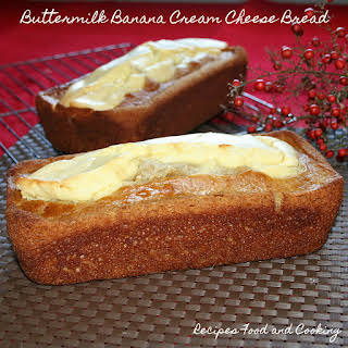 Buttermilk Banana Cream Cheese Bread.