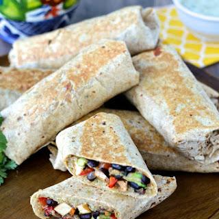 Crispy Chipotle Tofu and Black Bean Burritos