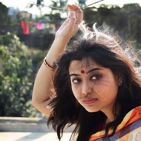 searching eyes by Avik Ghosh - People Portraits of Women