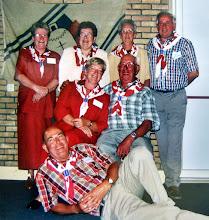 Photo: VCJC commissie reunie 2004 staand v.l.n.r.: Aaltje Talens-Moek, Jantje Rubing-Vedder, Lammie Talens-Enting en Jans Oosting. Zittend Jannie Reitsema-Kruit en Hendrik Hoving. Vooraan Berend Raterink
