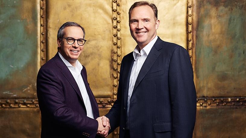 IBM's Michael Valocchi, (left) and Vodafone Business' Greg Hyttenrauch.