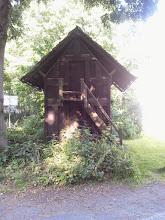 Photo: Funckenhause(ne)r Kornkasten: Schmalseite mit AUfgang.