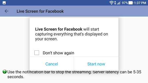 Live Screen for Facebook 1.1.107 screenshots 5