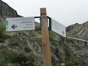 Photo: A la izquierda hacia la Laguna, a la derecha a la Presa, camino que, luego, al bajar hicimos