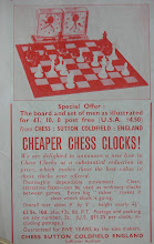 "Photo: CH180  seemingly the first advert for this clock - CHESS magazine, March 1954. The prior - Feb - issue still has the ""older"" style."