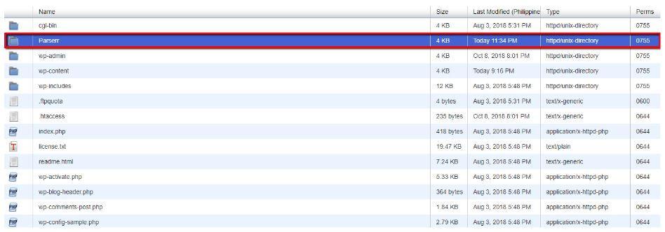 Locate New Folder in FTP Directory