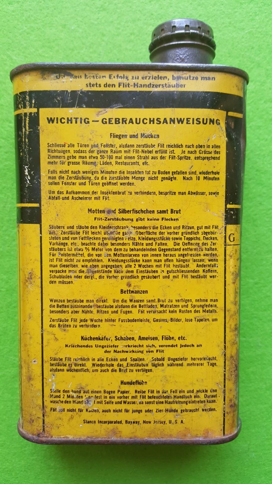 FLIT Insektenvertilgungsmittel 1928
