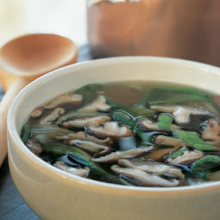 Bok Choy and Shiitake Soup.