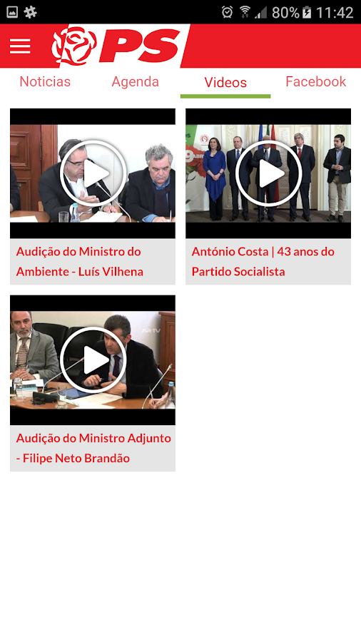 Partido Socialista- screenshot