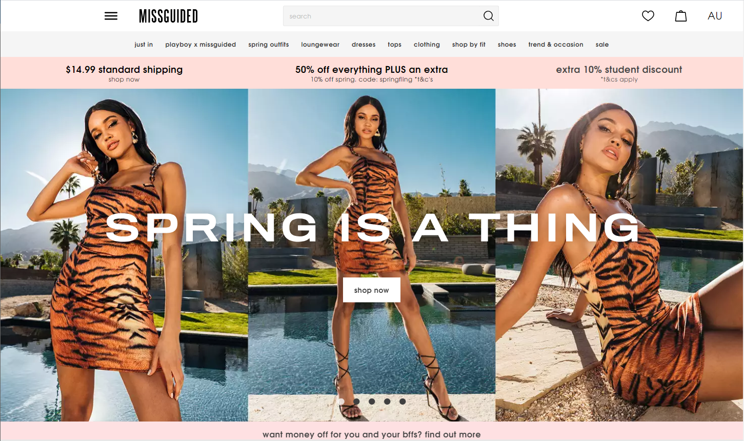 Missguided homepage personalization
