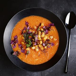 Sweet Potato And Harissa Soup.