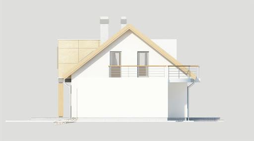 Adaś wersja C z podwójnym garażem - Elewacja prawa