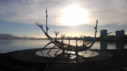 Iceland-Reykjavik-Sun-Voyager.jpg - The Sun Voyager sculpture, described as a dreamboat or ode to the sun, is near downtown Reykjavik.