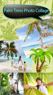palmy fotografické koláže - náhled