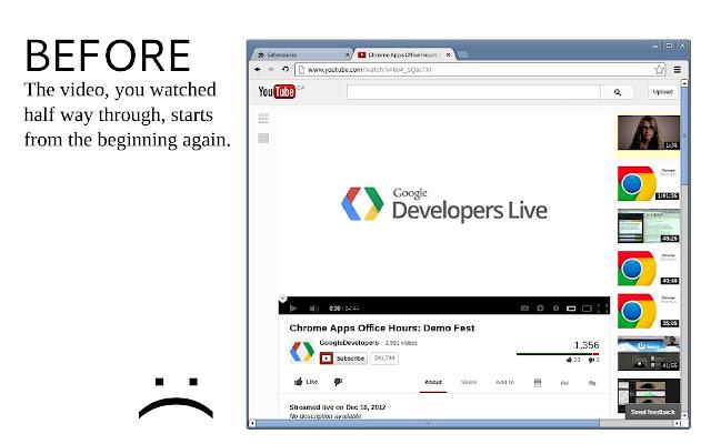 Video Resumer Chrome Web Store