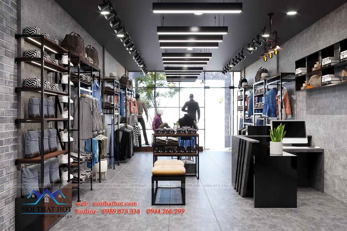 mẫu thiết kế shop thời trang nam đẹp