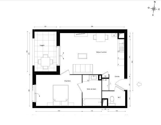 Vente appartement 4 pièces 42,77 m2