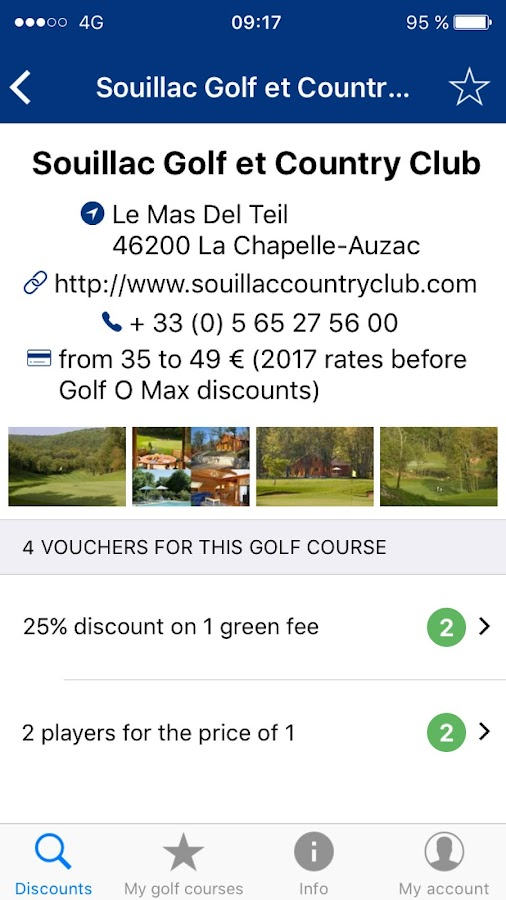 Golf O Max, up to 50% discount on your green fees- screenshot