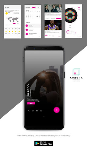 Aurora Project UI Kustom/Klwp screenshot 1