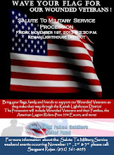 Photo: Wave your Flag for our Wounded Veterans in Kemah, TX  Nov. 1st