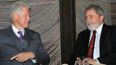Photo: Bill CIinton e Lula almoçam em Nova York. Foto: Ricardo Stuckert/Instituto Lula