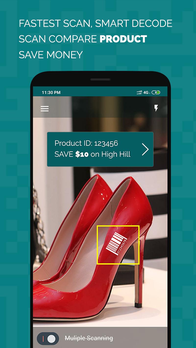 Multiple qr barcode scanner Pro Screenshot 1