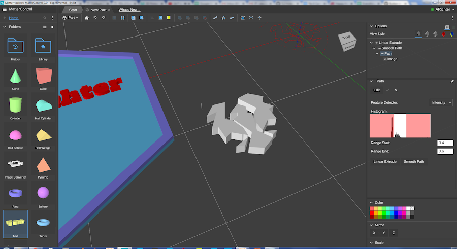 You can drag and drop in any image and MatterControl will convert it into an extrudable shape.