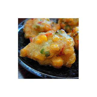 Corn, Prawn and Banana Fritters