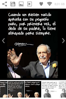 Screenshot of Garcia Marquez Quotes