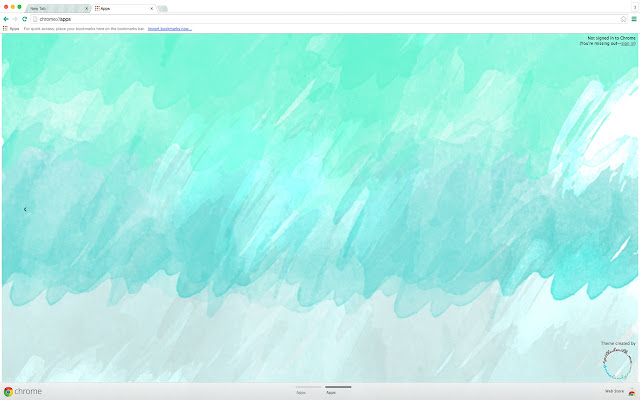 theme. Simple Watercolour Theme Using Greens, Blues, Greys, And White.