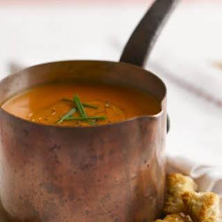 Saucepan of Pureed Tomato Soup.