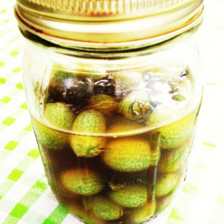 Tequila-Pickled Gherkins.