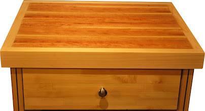 Photo: torsion box chopping block top of a kitchen island cart. It is lightweight and easy to move!