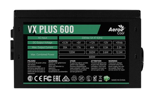 Power Aerocool VX Plus 600 230V N-PFC_5