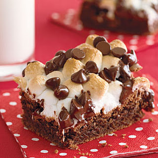 Fudgy Marshmallow-Topped Brownies.