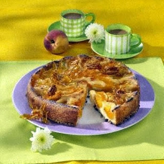Pfirsiche-Upside-Downkuchen