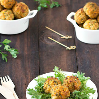 Baked Cheese Stuffed Chicken Meatballs.