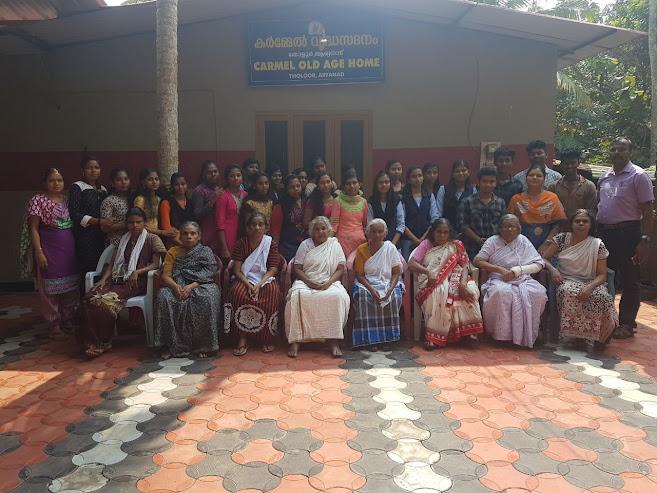 Carmel Old Age Home Trivandrum Aryanad VHSS Republic Day Celebration