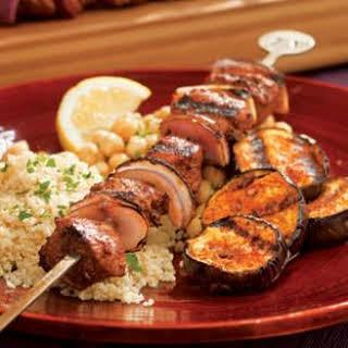Turkish Lamb & Eggplant Kebabs.