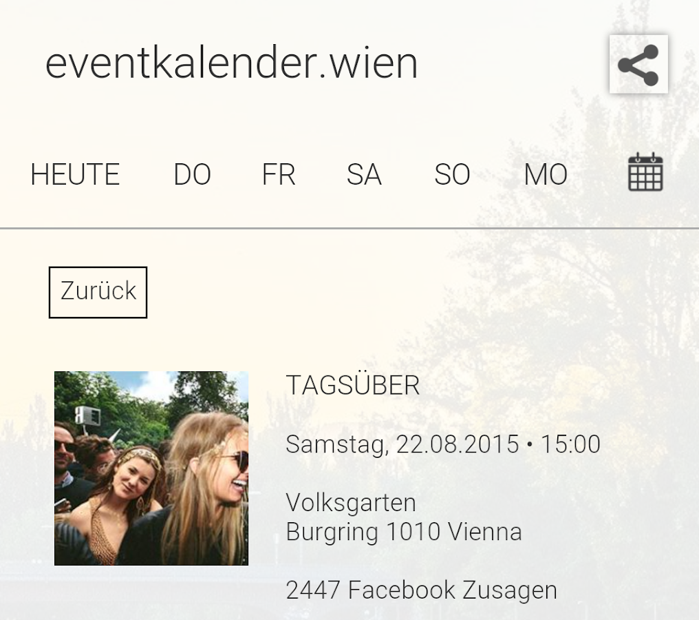 eventkalender.wien- screenshot