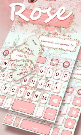 Rose GO Keyboard Theme & Emoji 4.15 screenshot 2088596