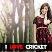 Cricket Love photo frame