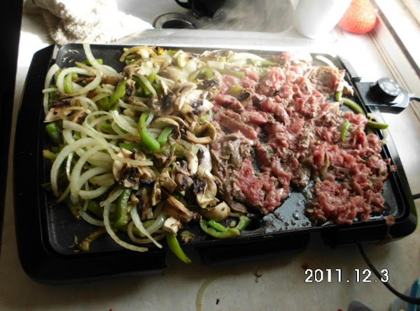 Saute onions & bell pepper with small amount of  olive oil, I use...